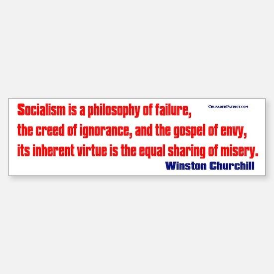 Socialism is a Philosophy of Failure Bumper Bumper Sticker