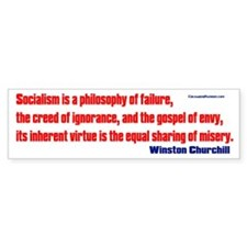 Socialism is a Philosophy of Failure Bumper Stickers