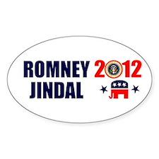 ROMNEY JINDAL PRESIDENT 2012 BUMPER STICKER Sticke