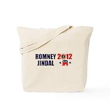 ROMNEY JINDAL PRESIDENT 2012 BUMPER STICKER Tote B