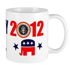 ROMNEY JINDAL PRESIDENT 2012 BUMPER STICKER Mug