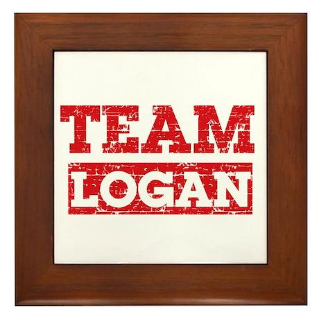 Team Logan Framed Tile