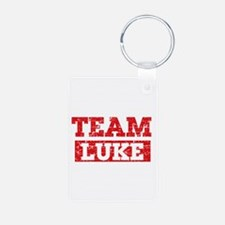 Team Luke Aluminum Photo Keychain