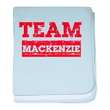 Team Mackenzie baby blanket