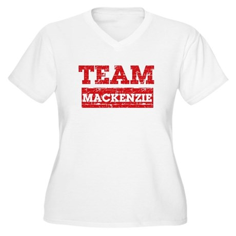 Team Mackenzie Women's Plus Size V-Neck T-Shirt