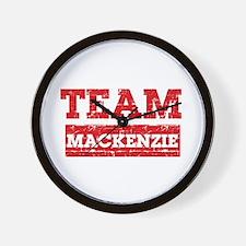 Team Mackenzie Wall Clock