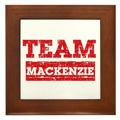 Team Mackenzie Framed Tile