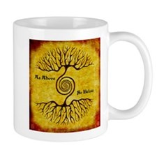 As Above So Below Color Print Mugs