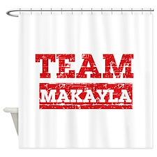 Team Makayla Shower Curtain