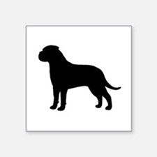"Bullmastiff Square Sticker 3"" x 3"""
