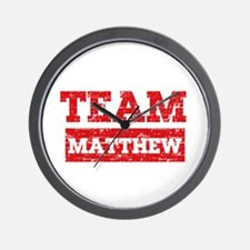 Team Matthew Wall Clock