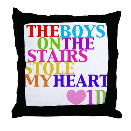 The Boys on the Stairs Stole My Heart Throw Pillow