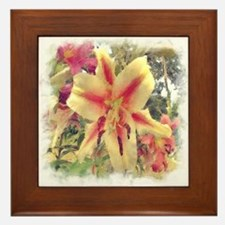 Lily Mixture Painted Framed Tile