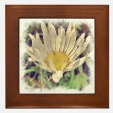 Painted Daisy Framed Tile
