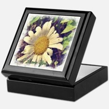 I Love You Painted Daisy Keepsake Box