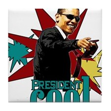 Obama - President Cool Tile Coaster