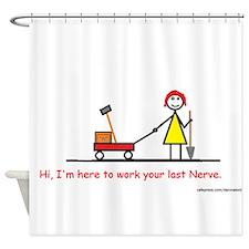 Last Nerve.png Shower Curtain