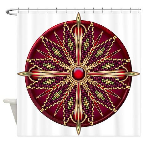 Native American Rosette 13 Shower Curtain