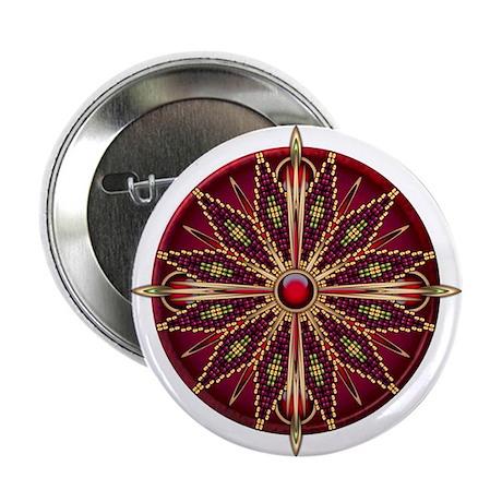 "Native American Rosette 13 2.25"" Button (10 pack)"