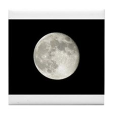 Full Moon Photo Tile Coaster