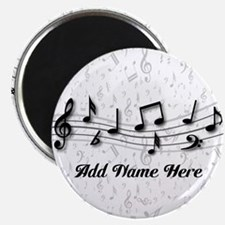"""Personalized Musical Notes design 2.25"""" Magnet (10"""