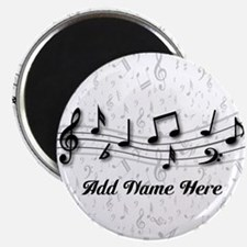 Personalized Musical Notes design Magnet