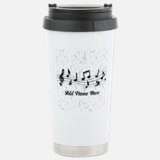 Personalized Musical Notes design Travel Mug