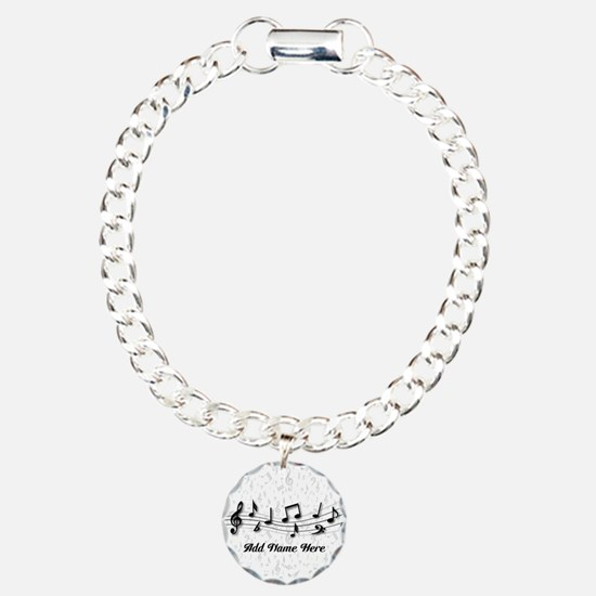 Personalized Musical Notes design Bracelet