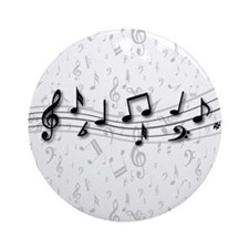 Designer Musical Notes in black and grey Ornament