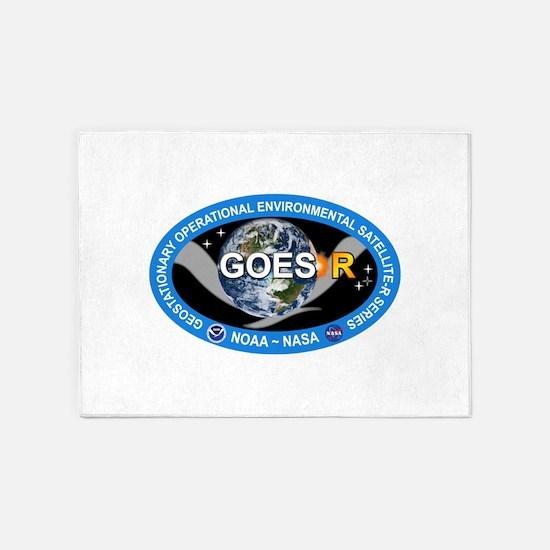 GEOS-R Logo 5'x7'Area Rug