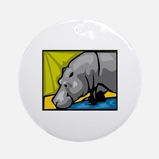 Hippo Ornament (Round)