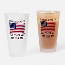 Flag3 Drinking Glass