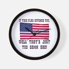 Flag3 Wall Clock