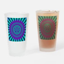Teal and Purple Mind Warp Fractal Drinking Glass