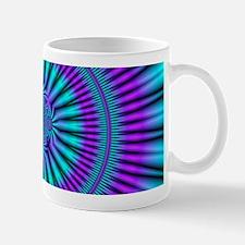 Teal and Purple Mind Warp Fractal Mug