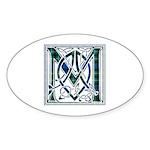 Monogram-MacLaggan Sticker (Oval 50 pk)