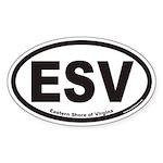 Eastern Shore of Virginia ESV Euro Oval Sticker