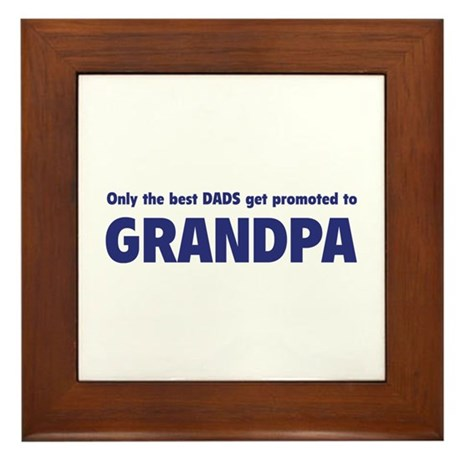 Only the best dads get promoted to grandpa Framed