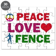 Peace Love Fence Designs Puzzle