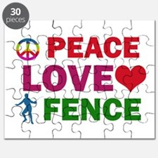 Peace Love Fence Designs Puzzle