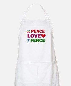 Peace Love Fence Designs Apron