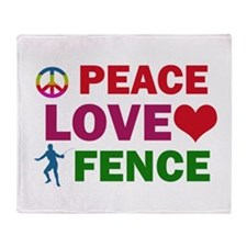 Peace Love Fence Designs Throw Blanket