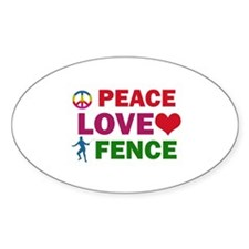 Peace Love Fence Designs Decal
