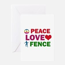 Peace Love Fence Designs Greeting Card