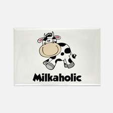 Milkaholic Rectangle Magnet