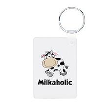 Milkaholic Aluminum Photo Keychain