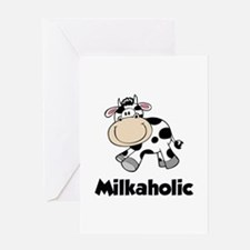 Milkaholic Greeting Card