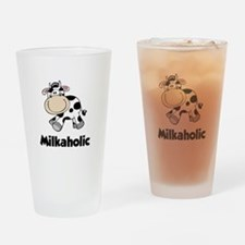 Milkaholic Drinking Glass