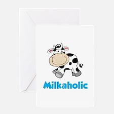 Milkaholic Greeting Card