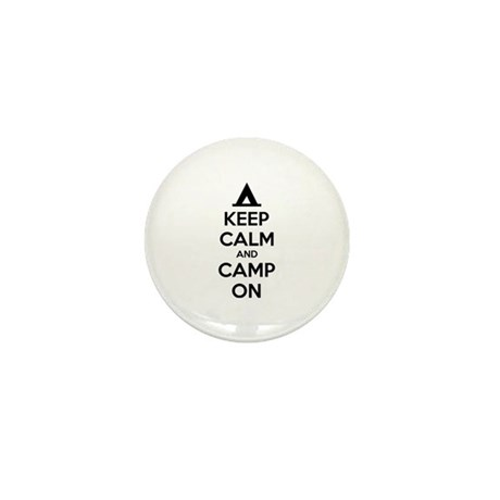 Keep calm and camp on Mini Button